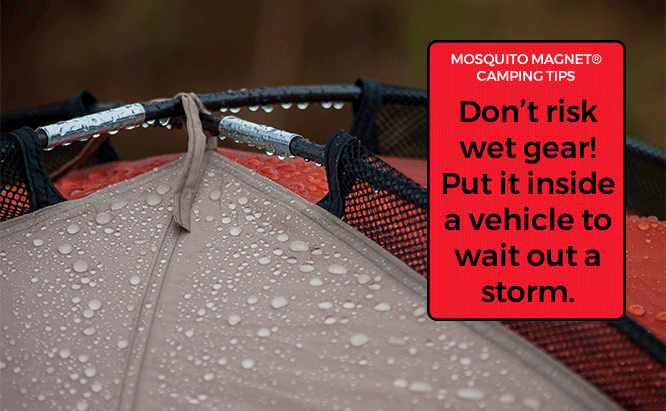 First Time Camping Tips Camping in the Rain